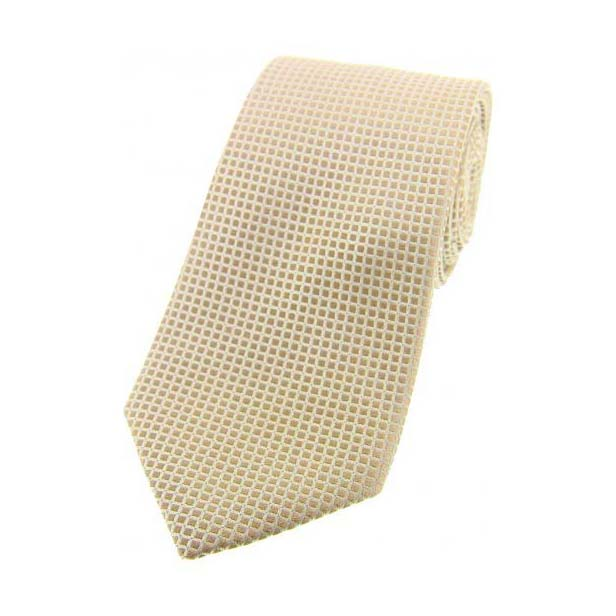 Plain Stone Box Weave Woven Silk Tie