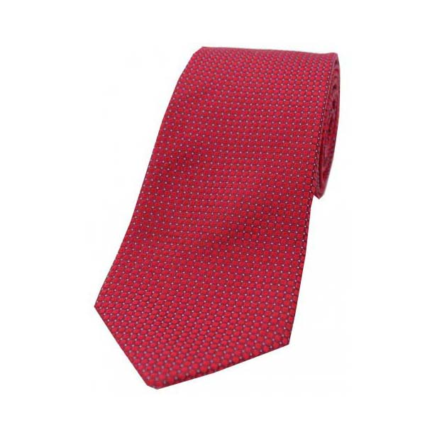 Wine Box Weave Silk Tie