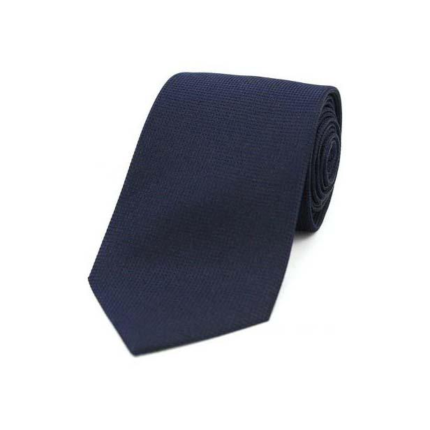 Navy Textured Silk Tie