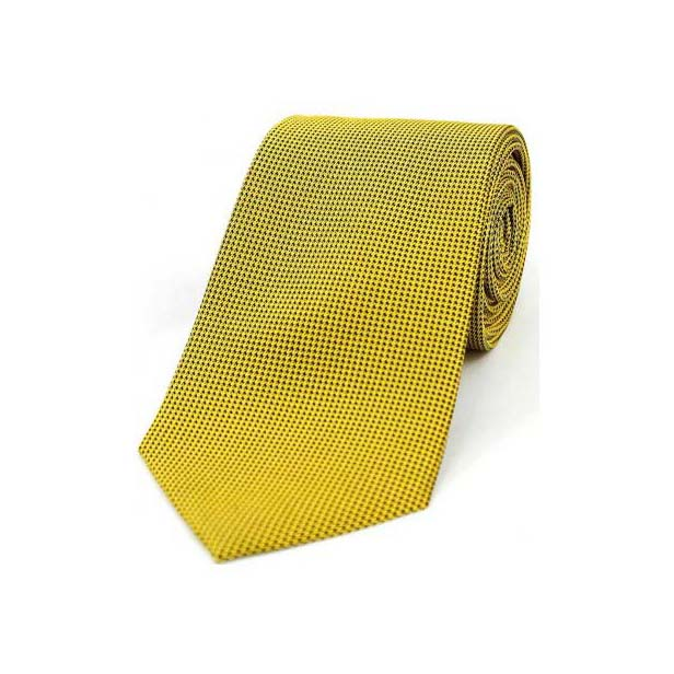 Gold Textured Silk Tie