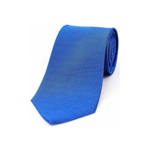 Blue Textured Silk Tie