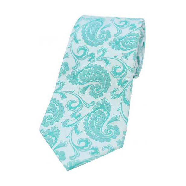 Persian Green Paisley Silk Tie
