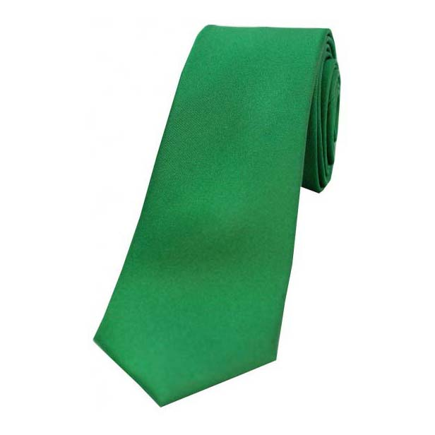 Emerald Satin Silk Thin Tie