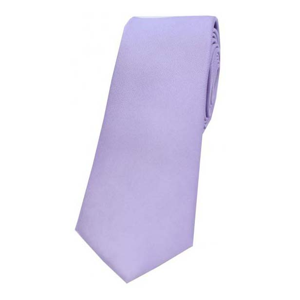 Light Lilac Satin Silk Thin Tie