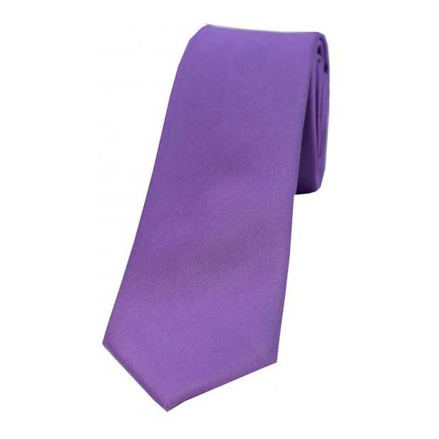 Lilac Satin Silk Thin Tie