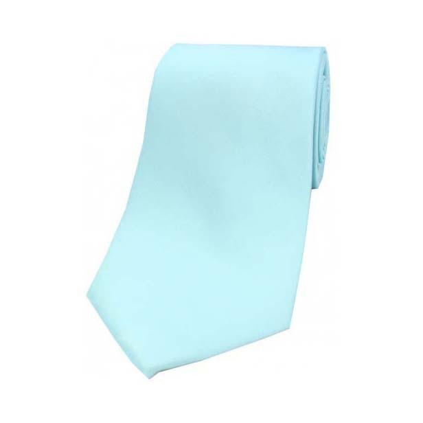 Cyan Satin Silk Tie