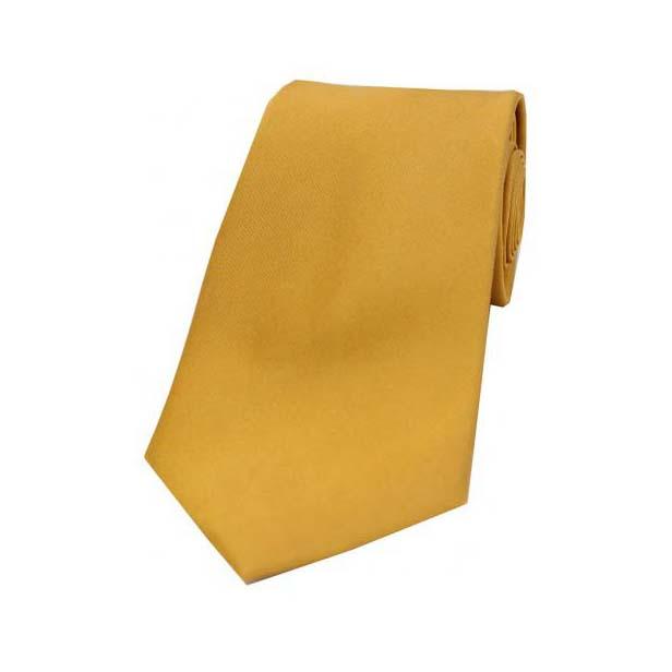 Gold Satin Silk Tie
