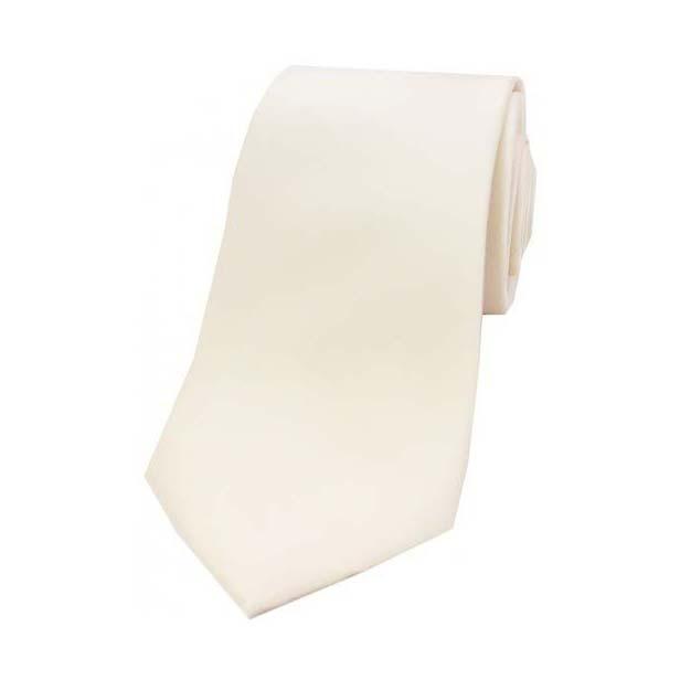 Ivory Satin Silk Tie