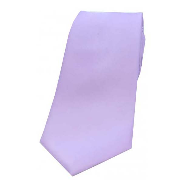 Light Lilac Satin Silk Tie
