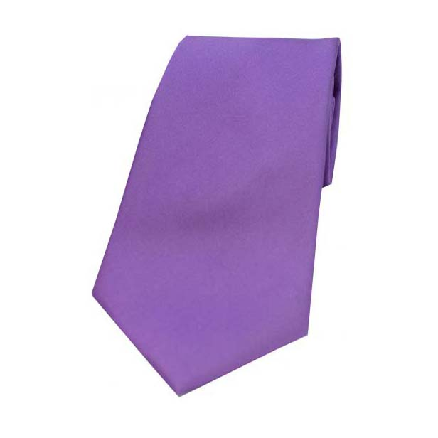 Lilac Satin Silk Tie