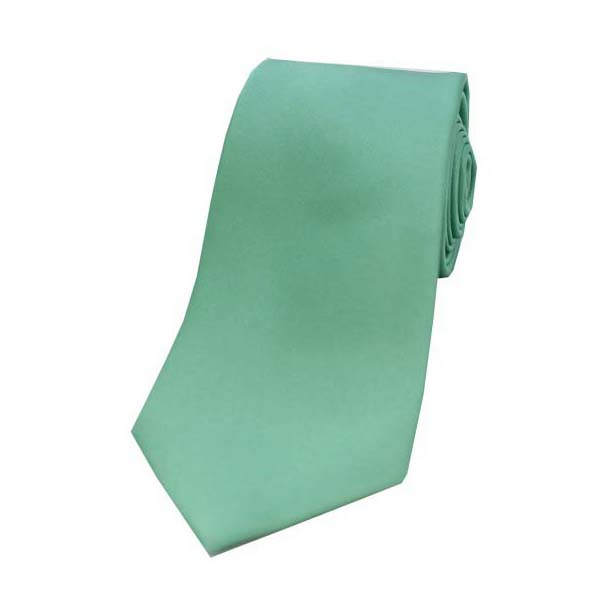 Mint Satin Silk Tie