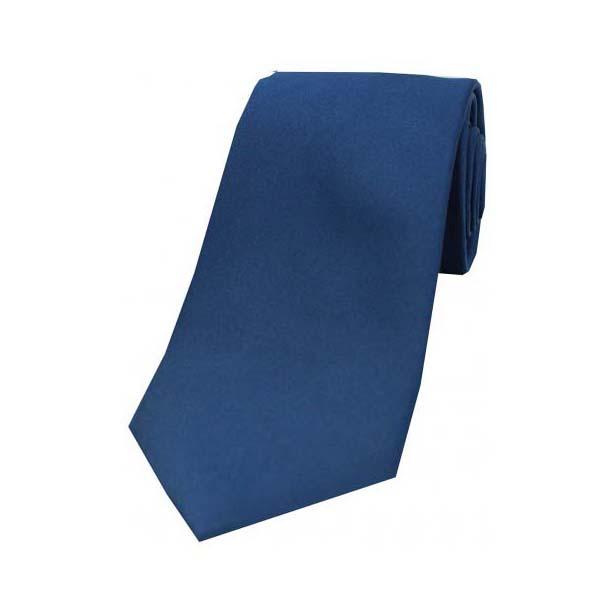 Navy Satin Silk Tie
