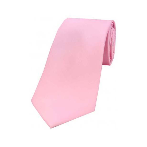 Pink Satin Silk Tie