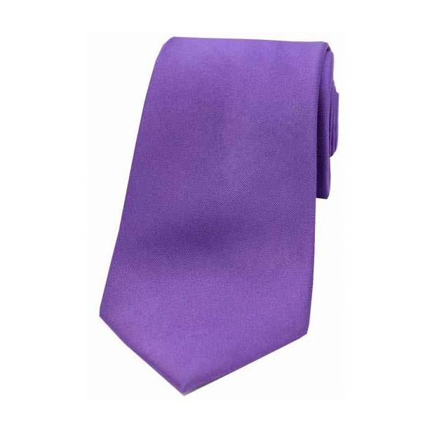 Purple Satin Silk Tie