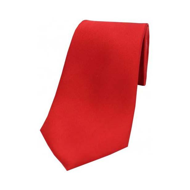 Red Satin Silk Tie
