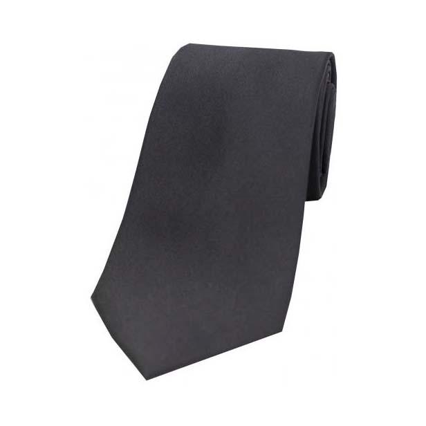 Slate Grey Satin Silk Tie