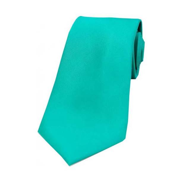 Turquoise Satin Silk Tie