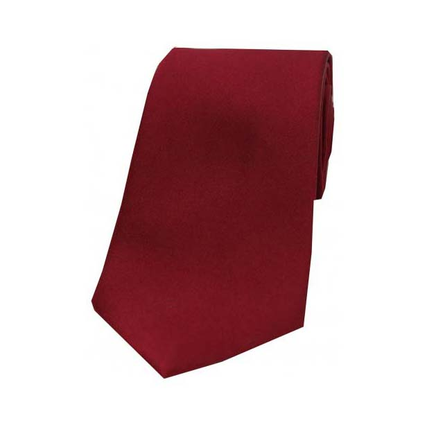 Wine Satin Silk Tie