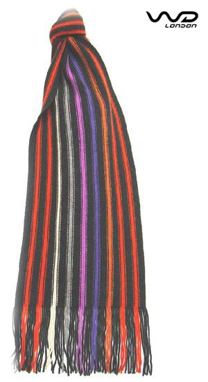 Orange College Stripe Merino Wool Scarf