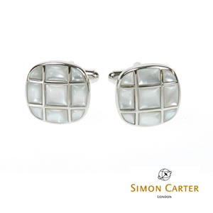 Button Back Mother Of Pearl Cufflinks