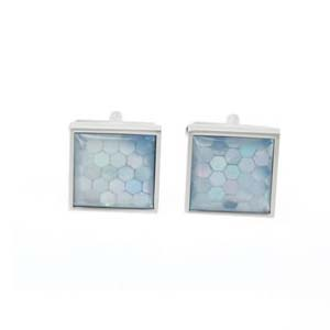 Honeycomb Blue Cufflinks