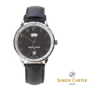 Black Swiss Quartz Simon Carter Watch