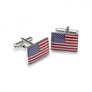 Denison City USA Gold-tone Flag Cufflinks